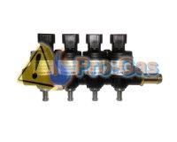 Купить форсунки Hana Rail 2002 Type B, 4 цилиндра (красные 104-156 HP)