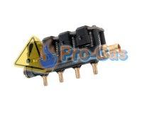 Купить форсунки Stag-W02, 4 цилиндра (черные 60-168 л.с.) с жиклёрами и штуцерам